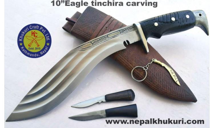 """10""""Eagle tinchira carving"""